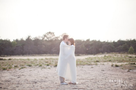 a sunset maternity session