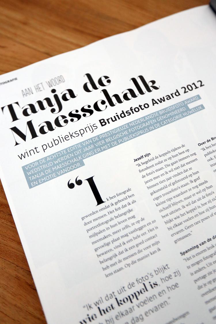 Tanja de Maesschalk interview Bruid en Bruidegom (2)